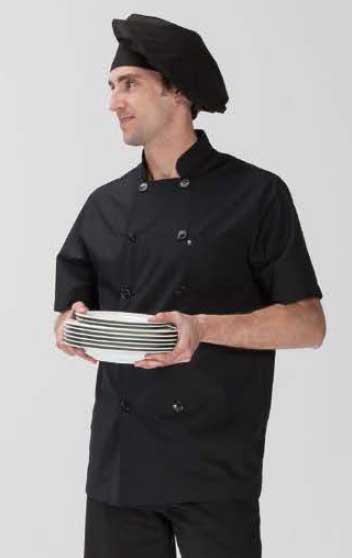 Chaquetilla cocinero popelin manga corta