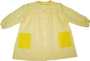 babero guarderia rallas amarillas