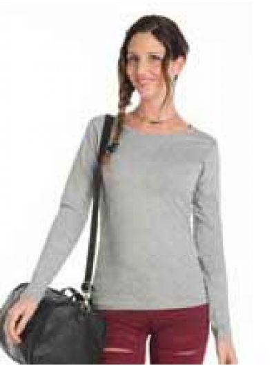 Camiseta mujer manga larga algodón