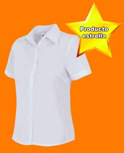 blusa-entallada manga corta