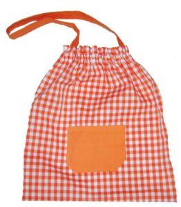 bolsa merienda guarderia cuadrados rojos