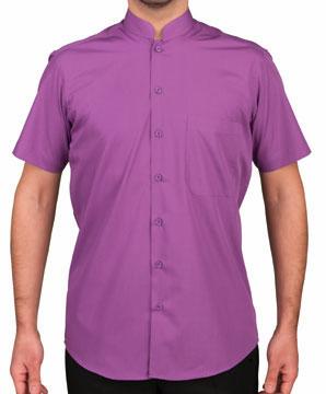 camisa cuello mao manga corta