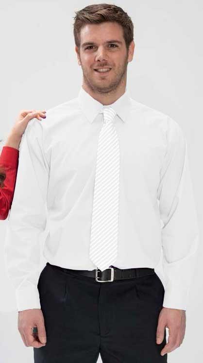 Camisa 1 bolsillo blanca manga larga