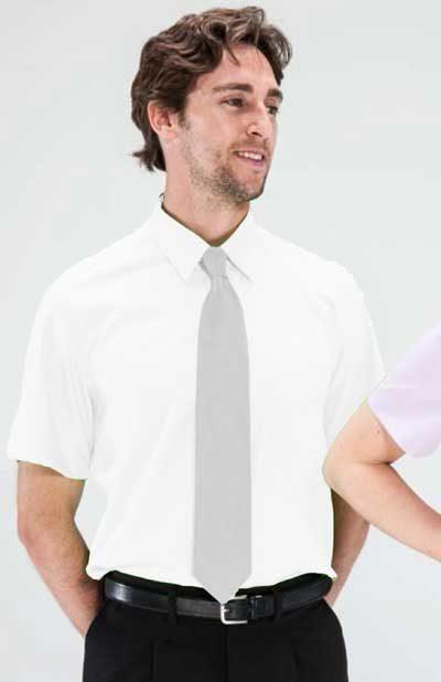Camisa 1 bolsillo blanca manga corta
