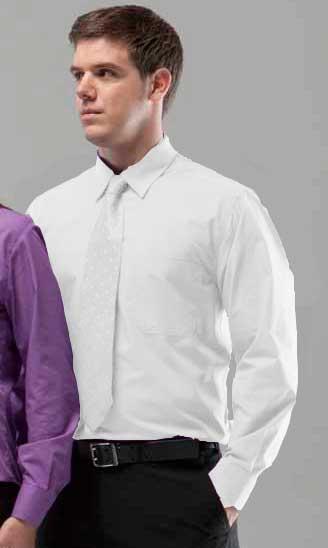 Camisa 1 bolsillo básica manga larga
