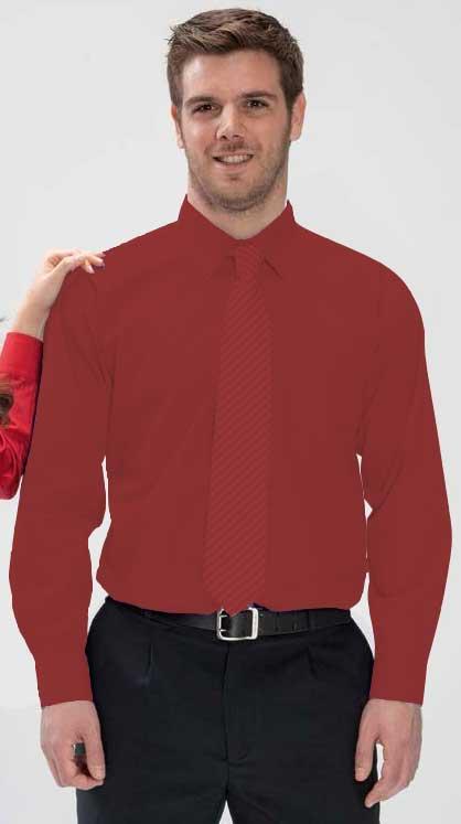 Camisa 1 bolsillo (negro, celeste y granate) manga larga