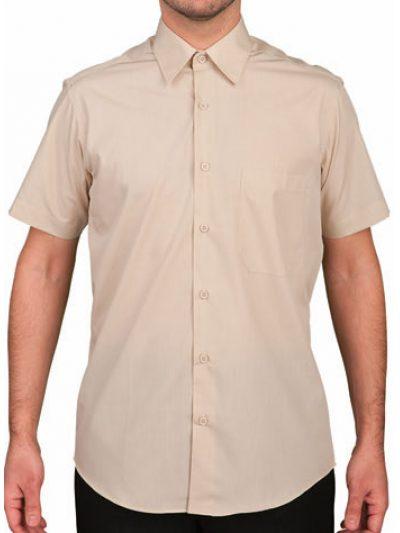 Camisa caballero 1 bolsillo colores manga corta