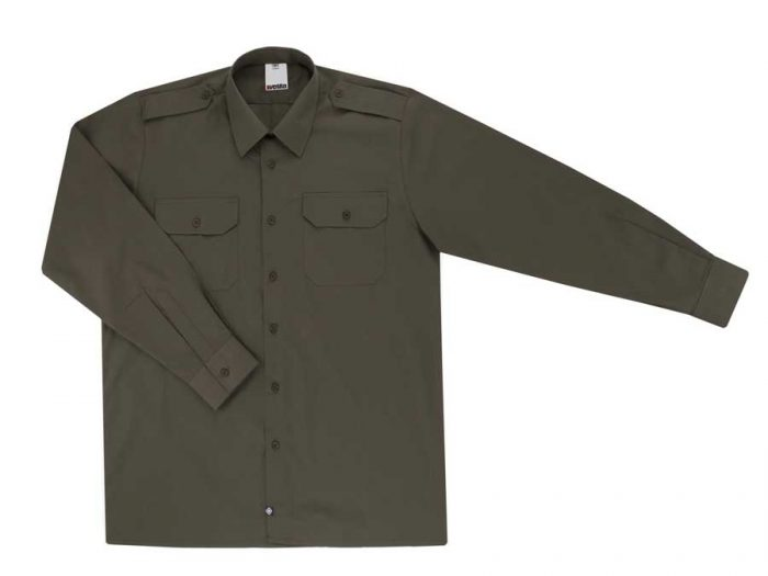 Camisa laboral standard manga larga