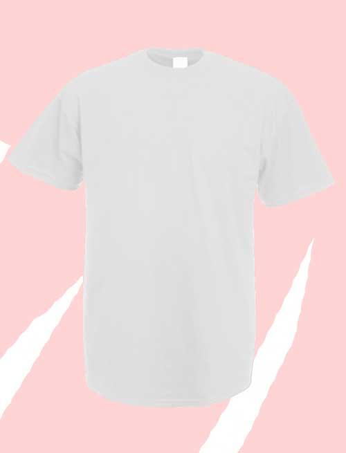Camiseta blanca premium manga corta