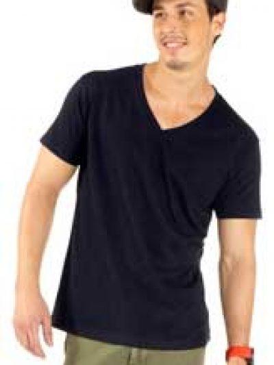 Camiseta pico manga corta