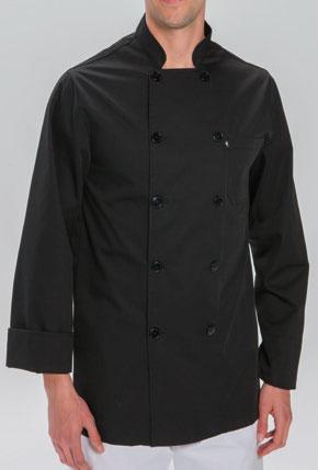 chaquetilla cocinero manga larga negra