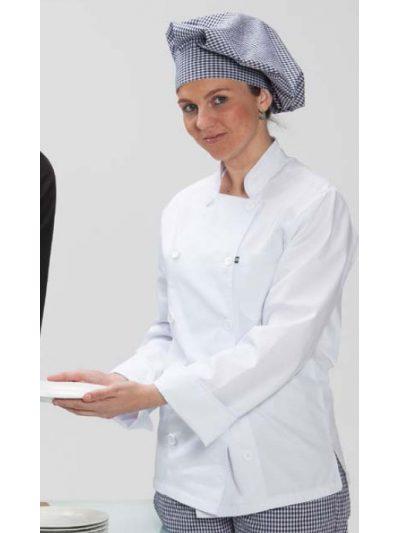 Chaquetilla cocinera blanca manga larga