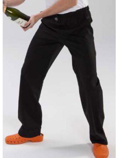 Pantalón cocina con gomas, botón y bragueta