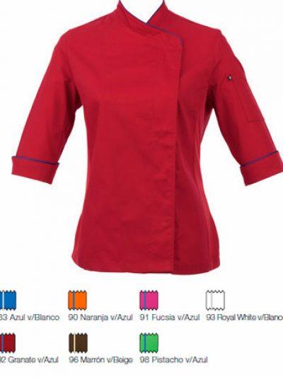 chaquetilla cocina mujer transpirable colores