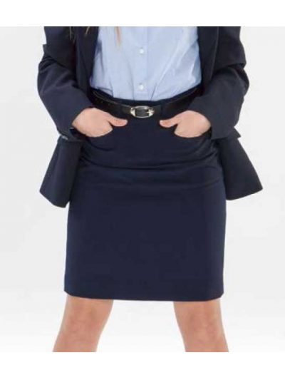 Falda bolsillos texturada