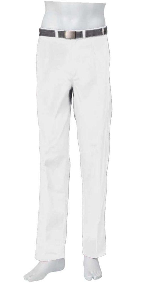 Pantalón blanco 1 bolsillo lateral