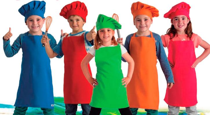 Gorro y delantal de cocinero infantil - Delantales y gorros de cocina para ninos ...