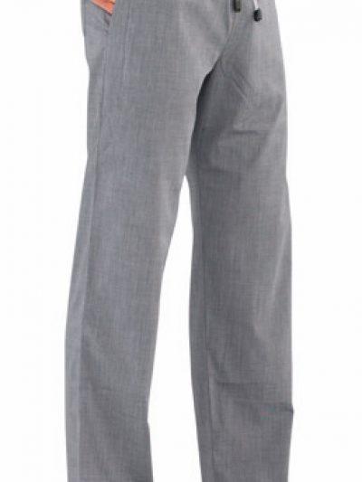 pantalon cocina gris tejido fil a fil