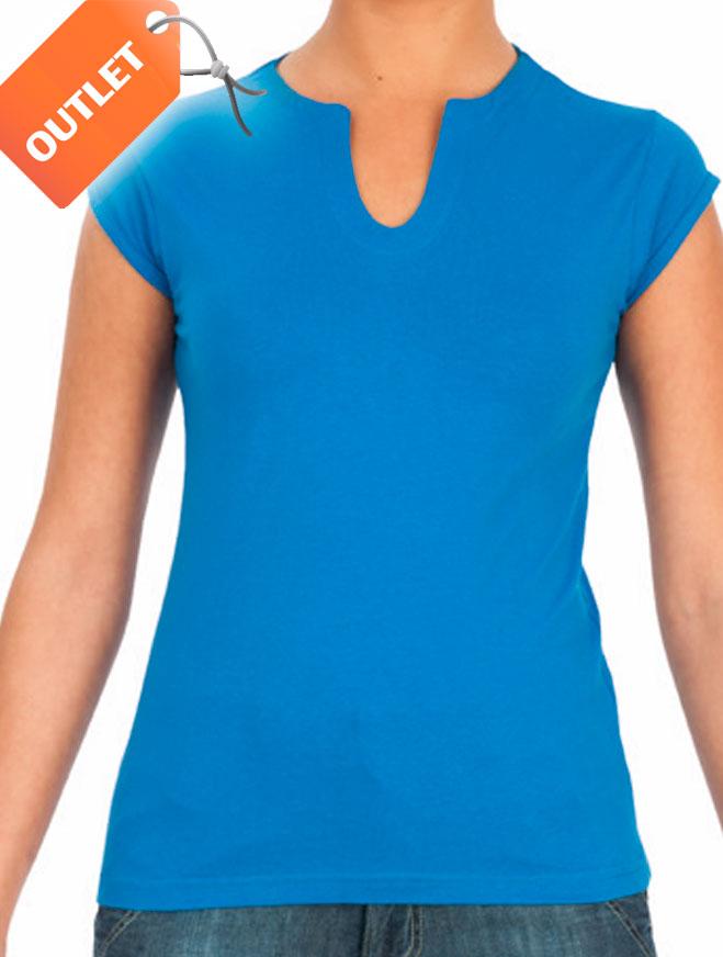 Camiseta mujer escote en v
