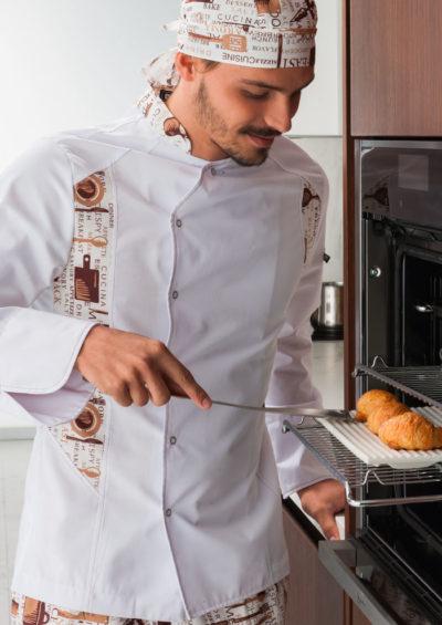 chaquetilla cocinero detalles estampados