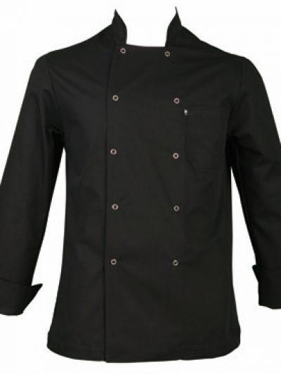 Chaquetilla cocina mujer manga larga color negro