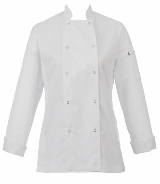 Chaquetilla cocina mujer manga larga color blanco