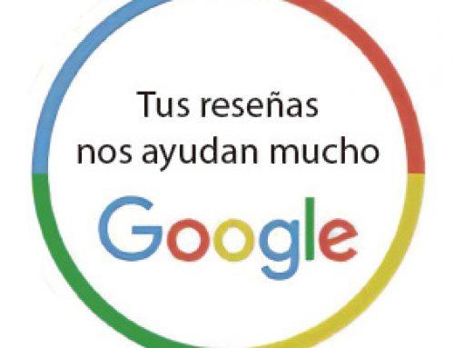 Participa en nuestro sorteo valorándonos en Google